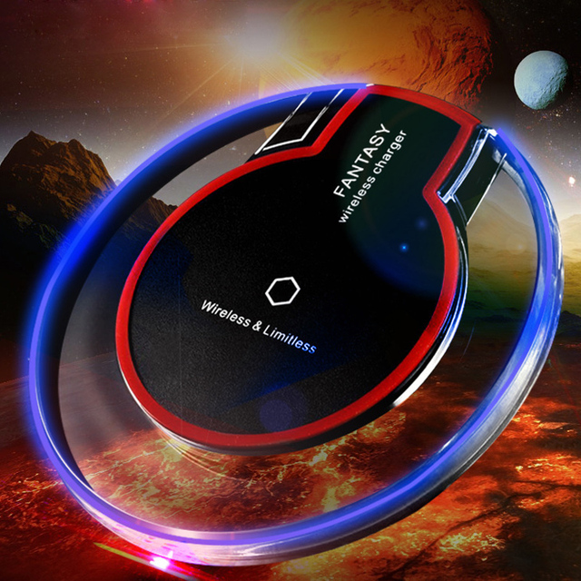 Crystal K9 Wireless Charger For iphone X/XS MAX Qi Fast Charge Wireless Charging Base Transmitter Round for Android Mobile Phone