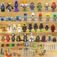 40pcs Legoed Pieces Ninjagoinglys Mini the Figures Masters Wu of Spinjitzu Lioyd Garmadon Army Ninja Best Gift for Kids(China)
