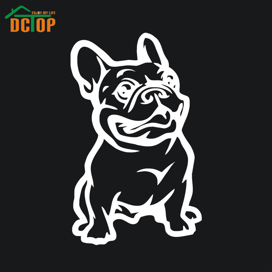 Sticker designs for car - French Bulldog Dog Car Sticker Strong Adhesive Vinyl Stickers Cars Decal New Design China