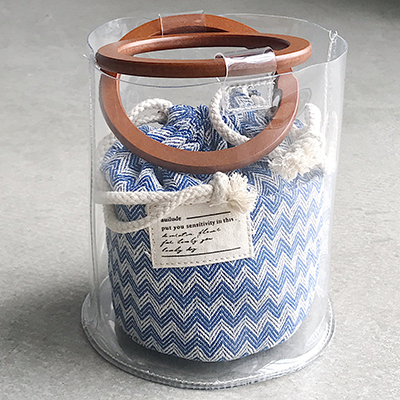 Women Wood Handle Bucket Bag Composite Bags Transparent Jelly