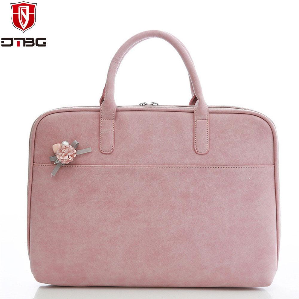 Dtbg из модного кожзаменителя Портфели Для женщин ноутбука Мужская тотализаторов для Apple MacBook Pro 15.6 дюймов ноутбук сумка оригинальный Дизайн М...