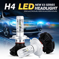 Oslamp CREE Chip H4 LED SUV Headlight Kits Far & Near Driving Car Bulbs Dipped/High Beam SUV Fog Lamp Fanless 3000K 6500K 8000K