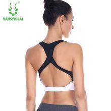 Sexy Women Fitness Bra Padded Sports Bra Top Sportswear Quick Dry Cross Design Running Vest Training Push Up Yoga Bras