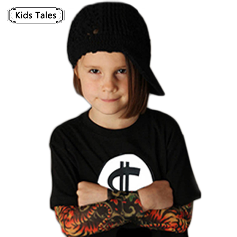 Boy Clothes Cotton T-Shirt With Long Sleeve Children T-Shirts New Tattoo Sleeve Boys Tops Spring Autumn Children Clothes SY103 tie dye asymmetrical t shirt dress with long sleeve