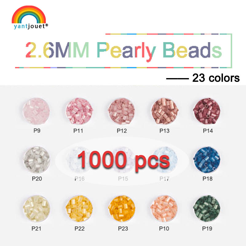 2.6mm 1000pcs Yant Jouet Pearly Beads 23colors Shiny Beads Kid Hama Perler Beads Diy Puzzles High Quality Handmade Gift Toy