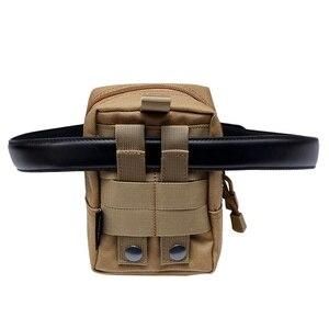 Image 4 - Ao ar livre Militar Tático EDC Saco de Multi função Portátil de Bolso Durável Molle Ferramenta Bolsos Com Zíper Acessórios