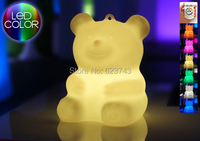 Remote Control Plastic multicolor LED teddy bear Night Light Waterproof,Rechargeable luminous Bear LED atmosphere MINI PURE Gift