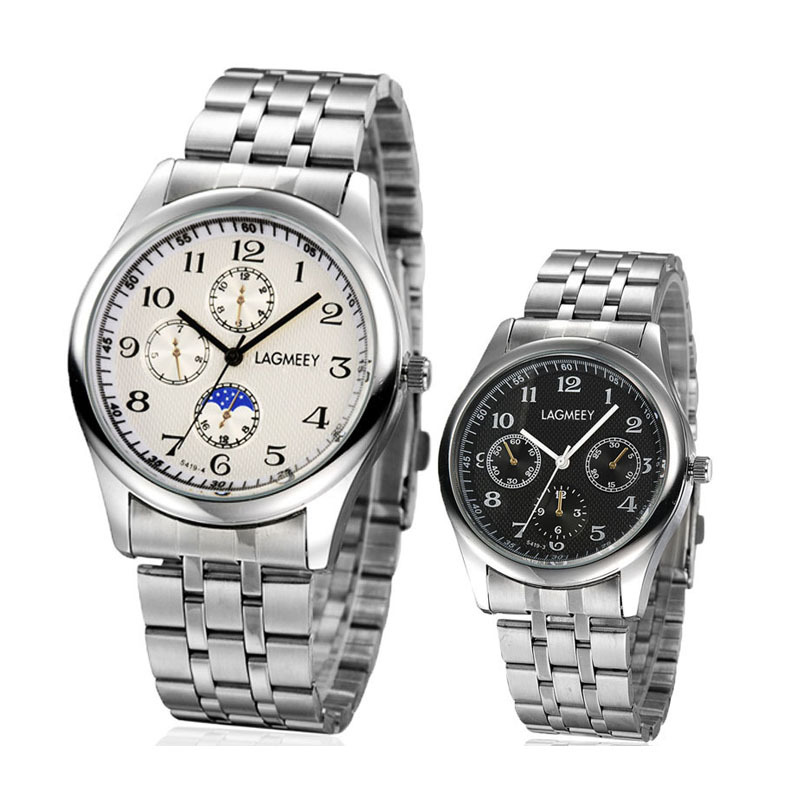 1pc men male Business Quartz wristwatches clocks New Fashion Waterproof Stainless Steel Band Male sports Watches