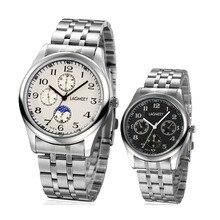 1 pc hommes mâle D'affaires de Quartz montres horloges Nouvelle Mode Étanche En Acier Inoxydable Bande Mâle sport Montres analogique chaude H4