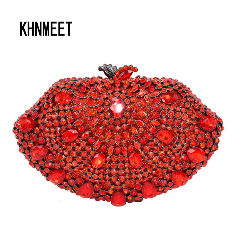 Fashion Red Crystal Evening Bag Sector Shape Luxury Diamond Women Party Purse Mujer Wedding Clutches Prom Packet Handbags SC559Fashion Red Crystal Evening Bag Sector Shape Luxury Diamond Women Party Purse Mujer Wedding Clutches Prom Packet Handbags SC559