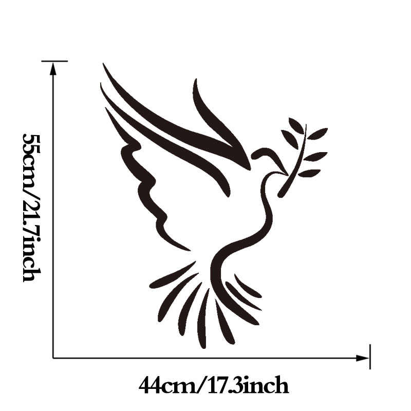 Bird Outline Wall Stickers For Living Room Peace Dove Art Decals Removable  Wall Decal