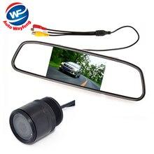 Система Помощи При Парковке авто 2 в 1 4.3 Цифровой TFT LCD зеркало Автомобиля Парковка Монитор + 170 Градусов Мини вид Сзади Автомобиля камера