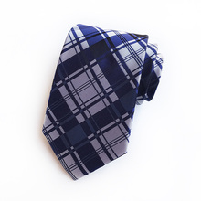 New Jacquard Woven Neck Tie For Men Classic Check Ties Fashion Polyester Mens Necktie Wedding Business Suit Plaid Gifts
