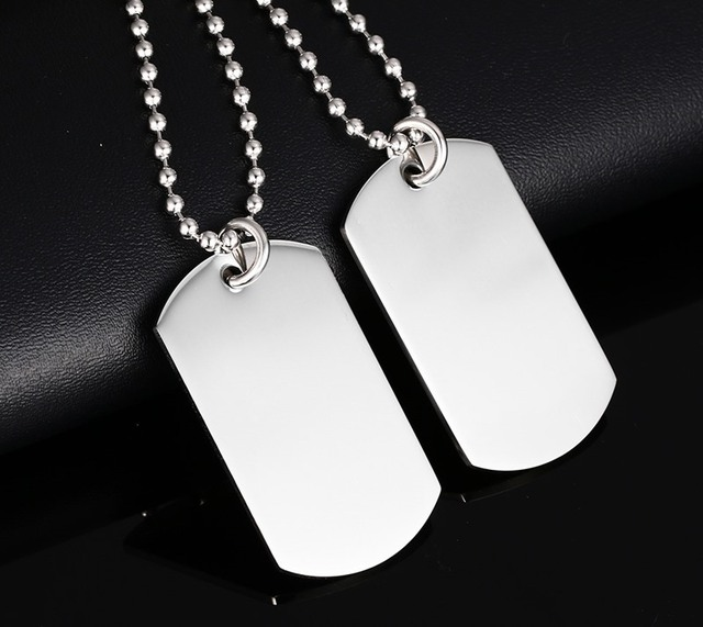 Stainless Steel Dog Tag Necklace Classical