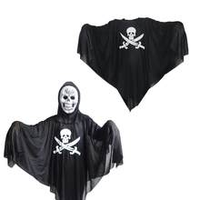 Halloween Pirate Skull Costume Cosplay Role Play Outfit Masquerade Performance Ghost Costume Clothes(China)