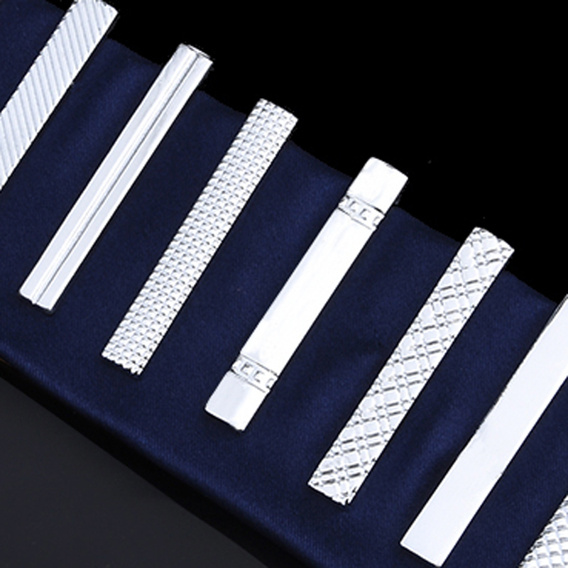 Men's tie clip silver fashion 10 simple short male collar 4cm dgk script medium silver tie dye short sleeve page 1