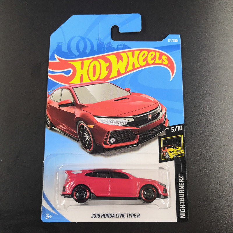 2019 Hot Wheels 1:64 Car 2018 HONDA CIVIC TYPE R Collector Edition Metal Diecast Model Cars Collection Kids Toys Gift