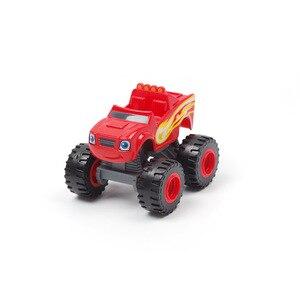 Image 4 - 1pcs Blaze רכב צעצועי רוסית מגרסה משאית כלי רכב איור Blaze צעצוע blaze את מפלצת מכונות יום הולדת מתנות לילדים