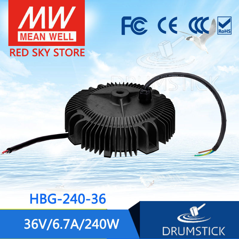 MEAN WELL HBG-240-36 36V 6.7A meanwell HBG-240 36V 240W Single Output LED Driver Power Supply [ba]mean well original hbg 240 48a 1pcs 48v 5a meanwell hbg 240 48v 240w single output led driver power supply