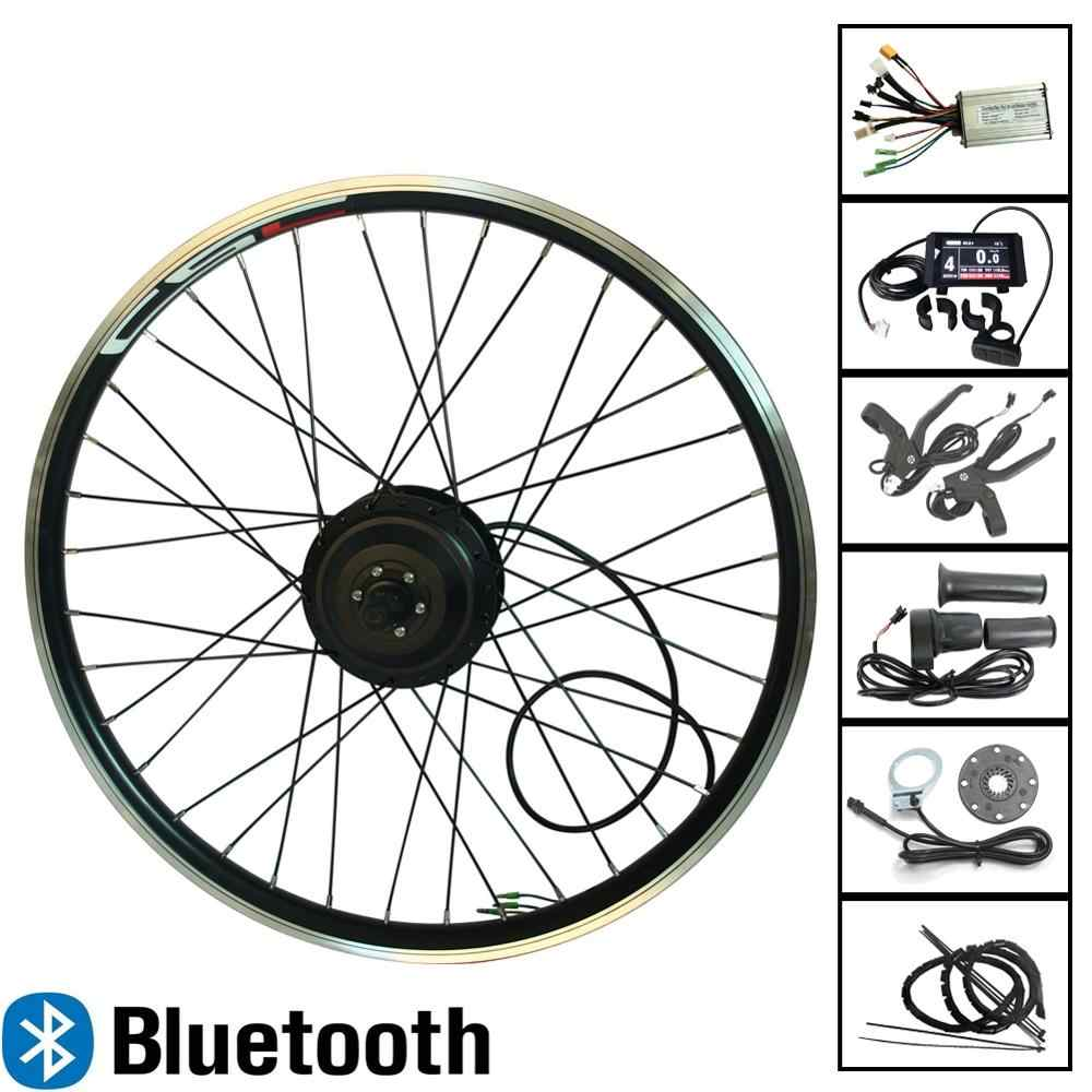 eBIKE 20-29 inch 700C Electric Bicycle Conversion Kit 36V 250W 350W 500W Bluetooth Front or Rear Hub Motor Wheel