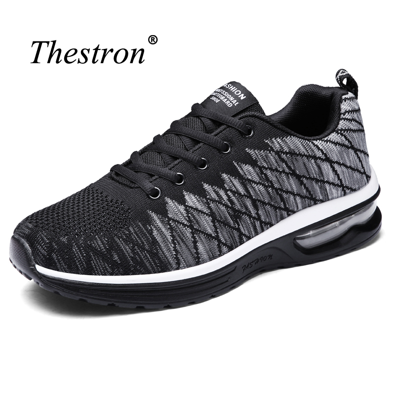 Running Shoes for Men Women Black Red Anti-slip Men Air Cushion Trainers Lace Up Light Woman Jogging Footwear Mesh Runners