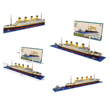 где купить Diamond Blocks LOZ Building Blocks Toy Bricks Technic RMS Titanic Ship Steam Boat Model Children's Toys Micro Creator 9389 дешево