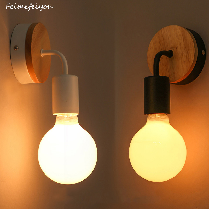 Feimefeiyou E27 6W Antique LED Globe Light Bulb Warm White G80 Non-dimmable Wall Lamp Modern simple wall lamp