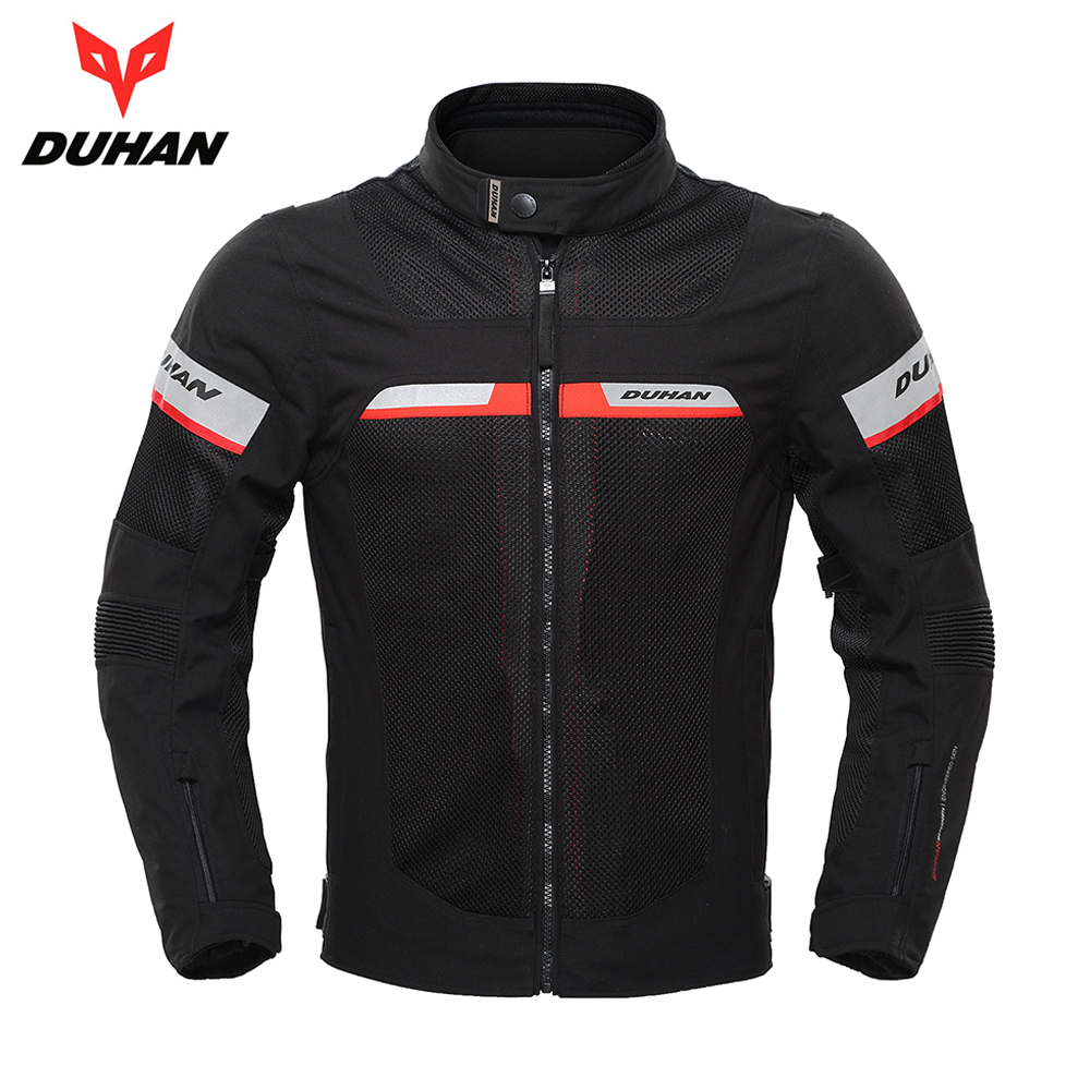 DUHAN Spring Summer Motorcycle Jacket Men Motorbike Jacket Protective Gear Breathable Waterproof Moto Jacket Motorcycle Clothing 2017 new camel outdoor spring summer skin clothing girls waterproof breathable windbreaker sun protective jacket a7s1u7178