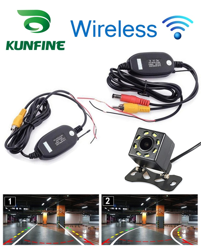 Universal Wireless Tracks CCD Rear View Camera Reverse Backup Camera Car Reversing Parking Assistance 8 LED Light Night Vision