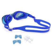 SEWS Dark Blue Waterproof Anti Fog UV Swim Goggles Eyewear Lens Glasses
