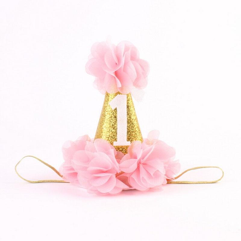 1 pc handmade newborn glitter crown flower tiara headband for kids