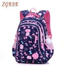 Children School Nylon Back Pack Bags Grade 3-6 Cartoon Bow Backpack High Quality Girls Schoolbag Backpacks For