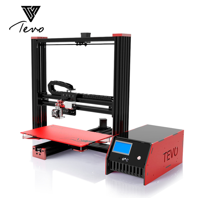 New TEVO Black Widow Large Printing Area 370*250*300mm Open Build Aluminium Extrusion 3D Printer kit with Microstep Extruder