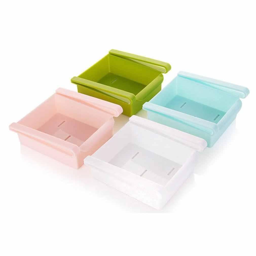 Criativo Geladeira Caixa De Armazenamento De Cozinha Prateleira Organizador de Gaveta Tipo Fresco Recipiente de Alimento Fresco Espaçador