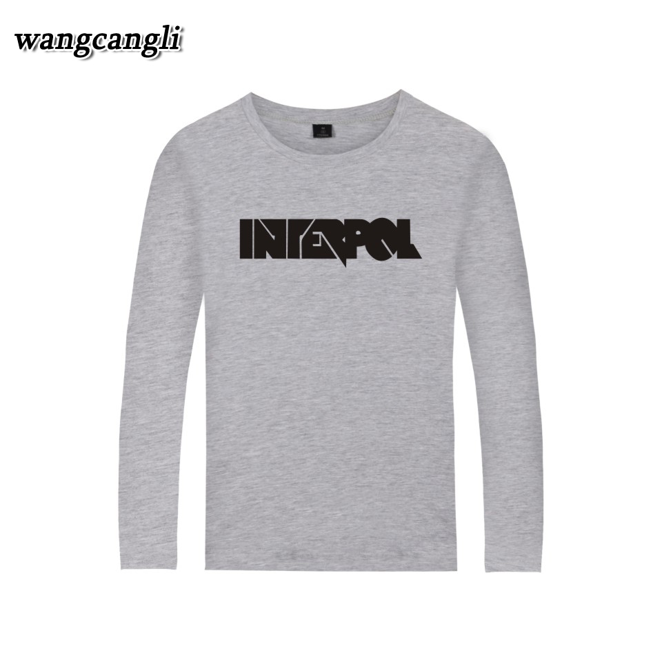 A INTERPOL Banda Punk T shirt Harajuku Verão T camisa de Manga Longa ... dc0d57e839d