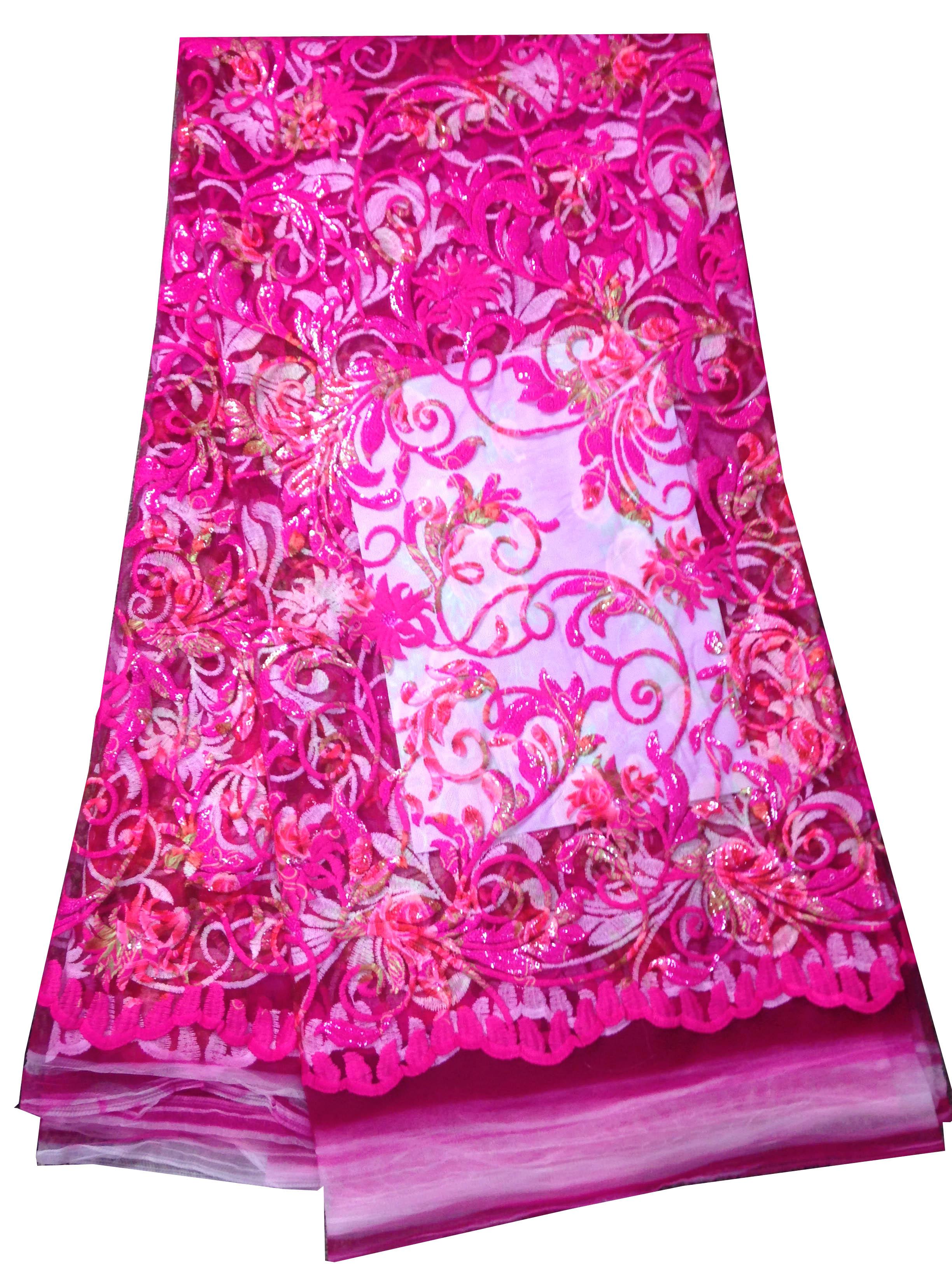 2018 Новое поступление в нигерийском стиле красивые водорастворимые Блестки ткань модные яркие красивые африканский шнурок для свадьбы VSC173