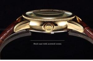 Image 3 - นาฬิกาข้อมือผู้ชาย Luxury Skeleton Mechanical Steampunk นาฬิกานาฬิกาข้อมือสายหนัง Herren Horloges