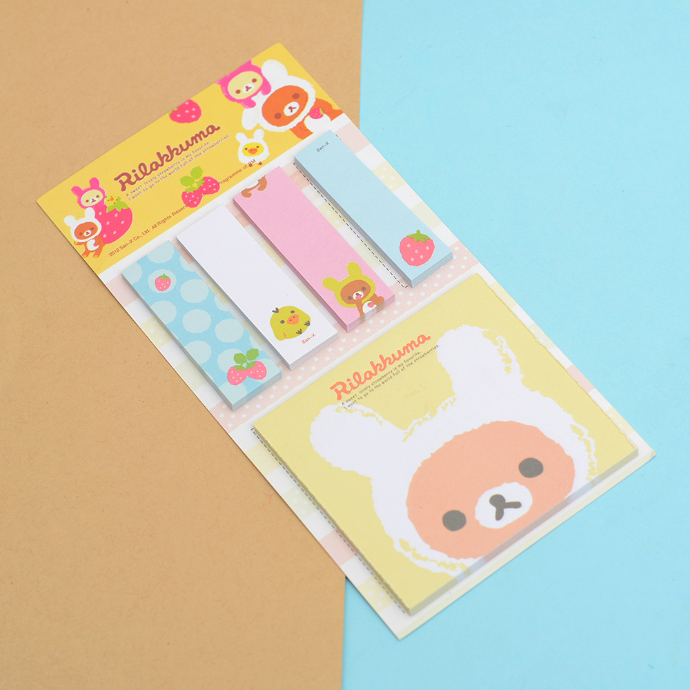 HOT Cute Popular Sticky Notes Pads Post Notes Memo Flags Removable Adhesive Decoration Paper Pads Best Gifts For Kids
