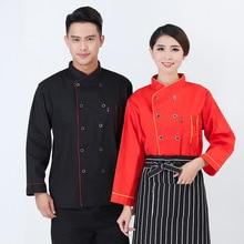 Новые мужские/женские услуги повара рабочая одежда отеля ресторана рабочая одежда оснастка рубашка для шеф-повара