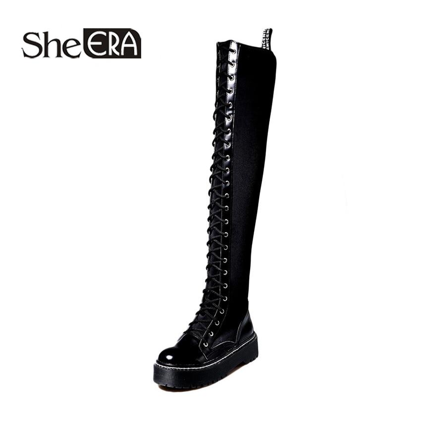 Chaussures Elle Ère Nouveau Noir Zip Black Bottes Femmes Stretch Mode Fur Longues Tissu black Classique Le With Sur Genou vf7gY6by