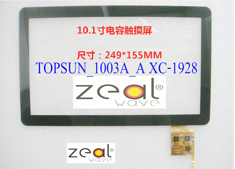 10.1 Inch Black Capacitive Touch Screen Digitizer Glass Replacement for VOYO Q101 TOPSUN_1003A_A XC-1928
