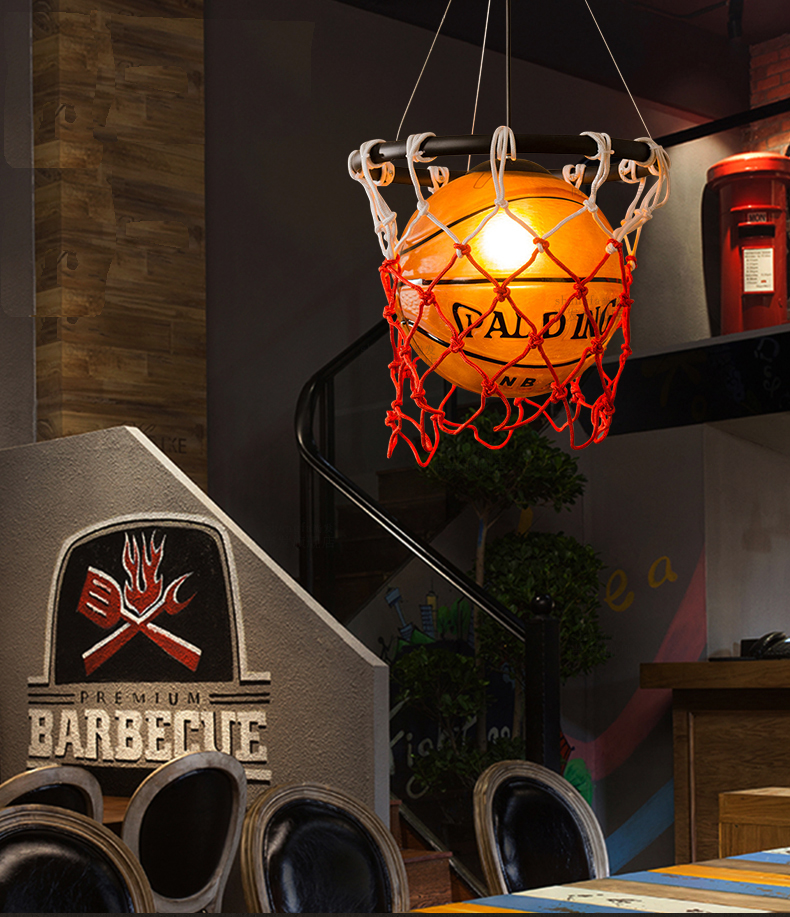 Lampe de Basket lampe suspension luminaire lampes Lampada Led panier Luminaria lumières éclairage Led lumières Luminaria chambre d'enfants - 4