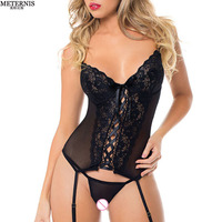 OXOSEXY New Tight Bandage Corset Sexy Babydoll Garter Belt Pole Dance Women Sexy Lingerie Hot Ladies