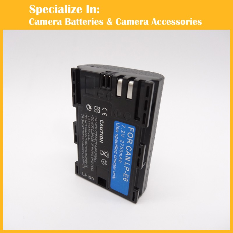Eeyrnduy 1pcs 7 2V 2750mAh LP E6 Camera Battery