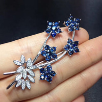 2017 Collier Collares Qi Xuan_Dark Blue Stone Fashion Brooches_Real Brooches_Quality Guaranteed_Manufacturer Directly Sales