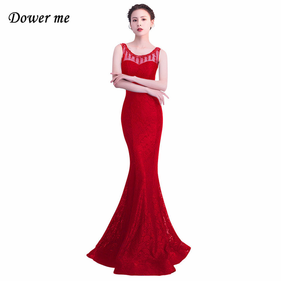 Dower Me Sexy Lace Trumpet Dress 2019 Summer Sleeveless Fashion O neck Dresses Sexy Women Party Night Club Slim Vestidos C158 in Dresses from Women 39 s Clothing