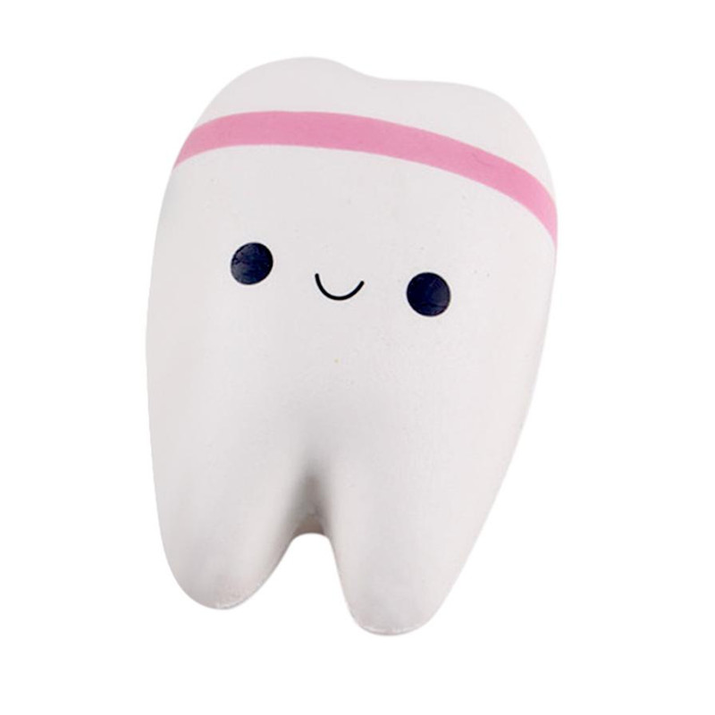 2 Pcs Simulation Cute Teeth Pressure Reducing Funny Antistress Soft Foam Gift Toys For Children Adult Novelty Dental Gifts Nails Art & Tools Nail Art Templates