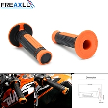 ORANGE Universal Motorcycle handle bar Motorbike handlebar grips FOR EXC-F 250 350 450 EXC125 EXC 300 TPI