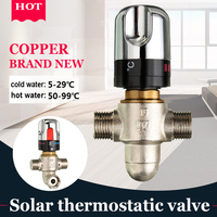 G1/2 Ceramic Standard Thermostatic Mixing Valve Temperature Control Valve For Solar Water Heater Valve Parts