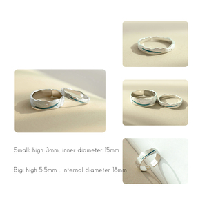 Image 3 - Thaya Time Travel Wave Blue Finger Ring Stackable S925 Sterling Silver Drawing Line Open Rings Women Jewelry Handmade Lover Gift